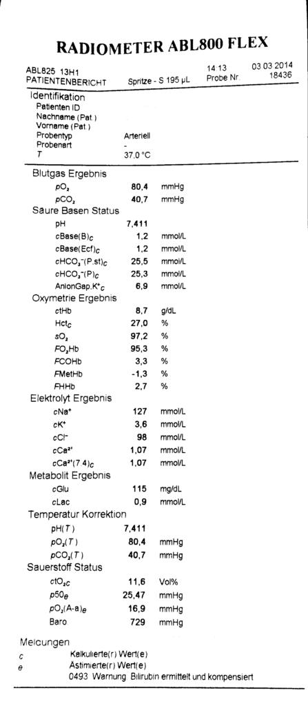 Blutgasanalyse