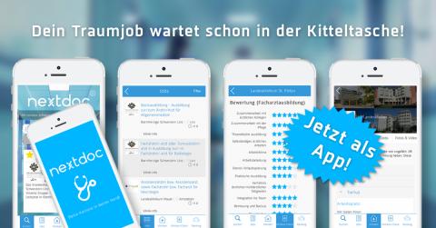 Die praktische Job App von nextdoc ist da!