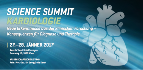 Science Summit Kardiologie 2017: bei nextdoc.at registrierte Mitglieder haben freien Eintritt