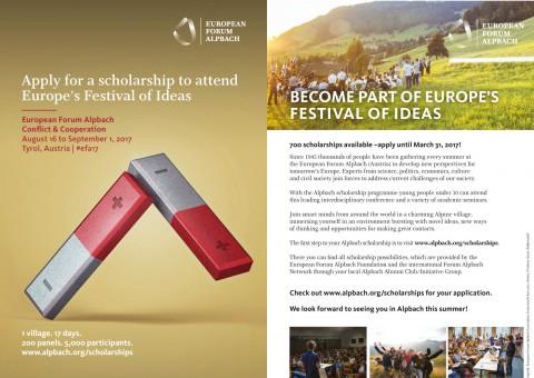 Stipendium Forum Alpbach – Wissenschaftlicher Austausch und internationaler Dialog